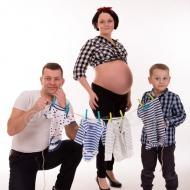 Rodzinna sesja ciążowa