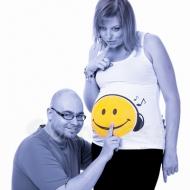 Zdjęcia ciążowe na wesoło