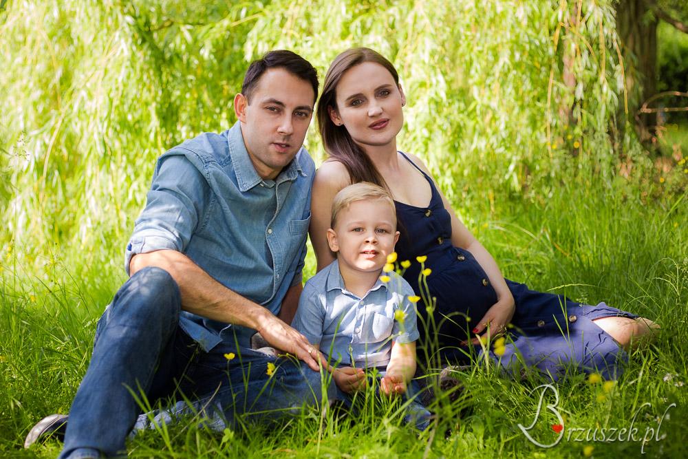Rodzinna sesja plenerowa w ciąży