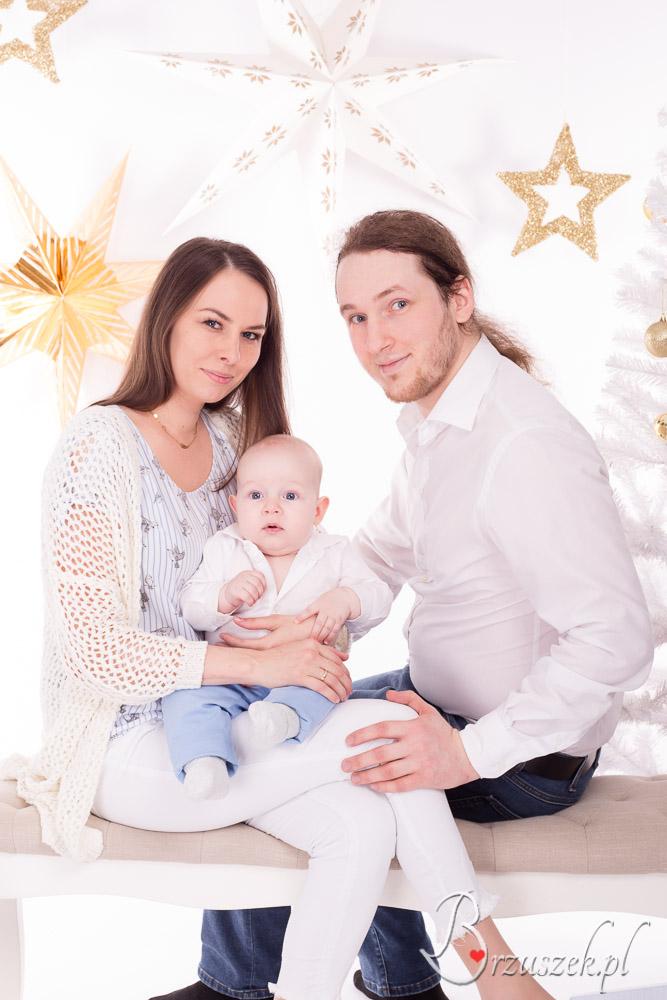 Sesja świąteczna z niemowlakiem
