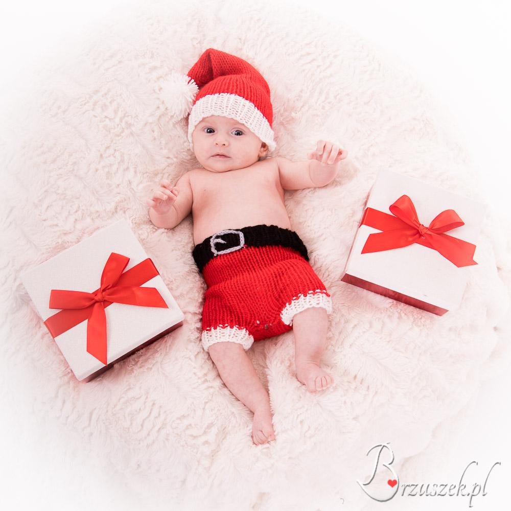 Świąteczna sesja niemowlęca
