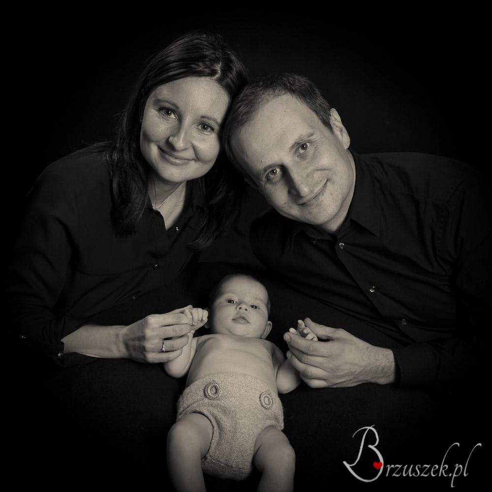Sesja niemowlęca z rodzicami