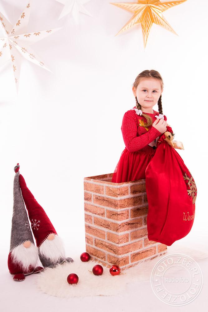 Sesja świąteczna w kominie