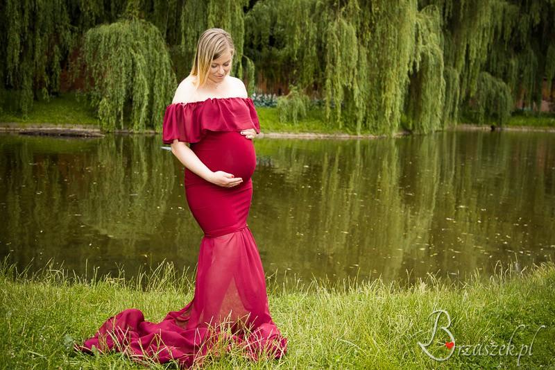 Sesja ciążowa w sukni